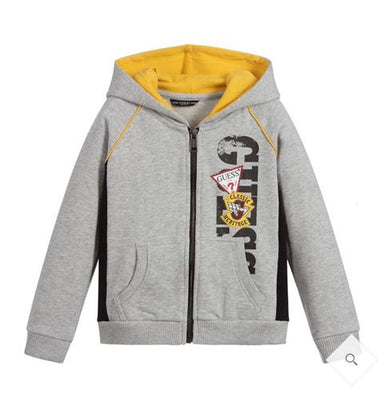 Guess Boys Grey & Yellow Hoodie