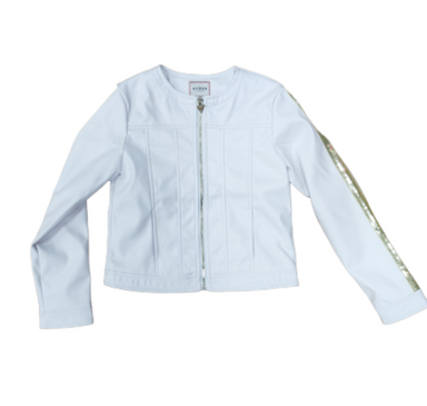 Guess Girls White Faux Leather Jacket