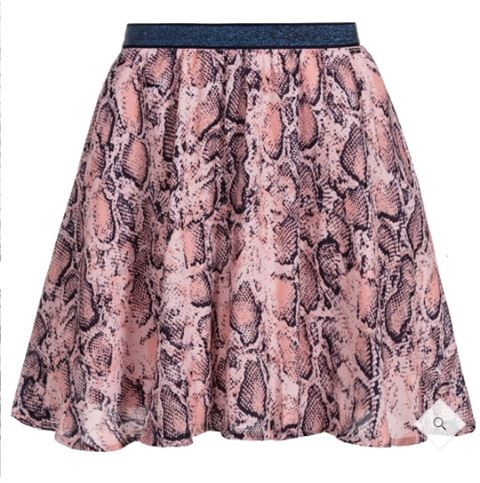 Guess Girls Snakeskin Print Skirt