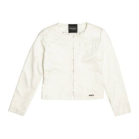 Guess Girls White Fringe Jacket