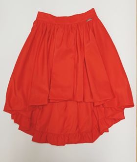Guess Marciano Red Dip Hem Skirt