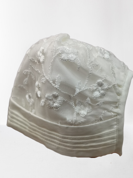 Girls Nessa Heritage Cream Christening Bonnet