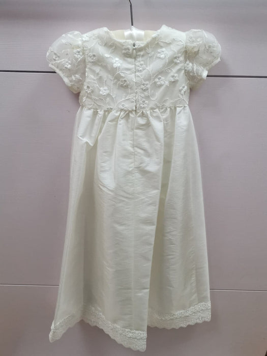 Girls Nessa Heritage Cream Christening Gown Back