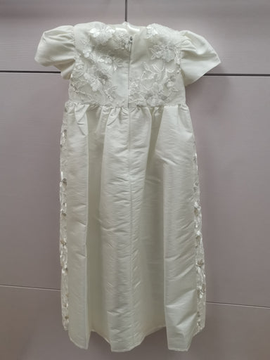 Girls Heritage Antique White Christening Gown Back