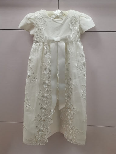 Girls Heritage Antique White Christening Gown