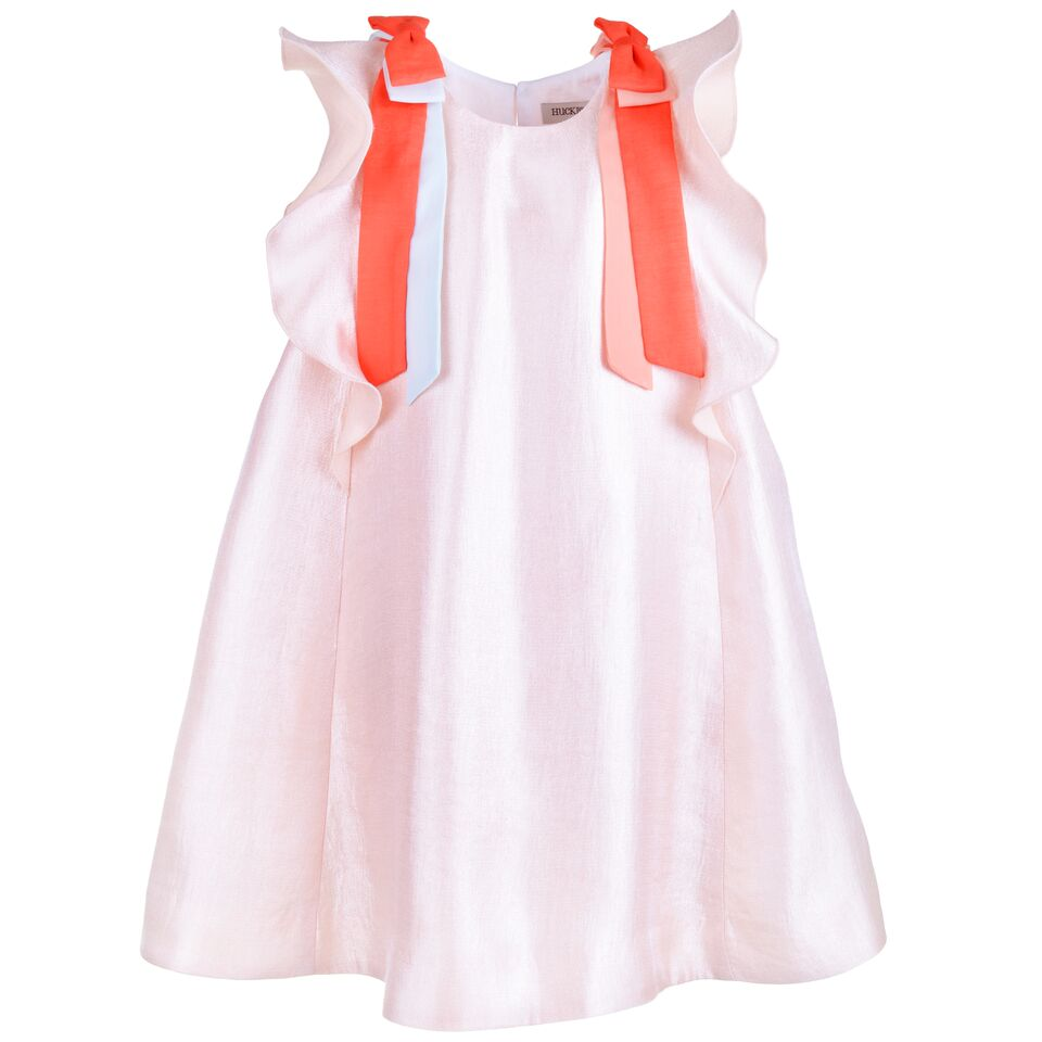 Hucklebones Girls Blush Ribbon Dress