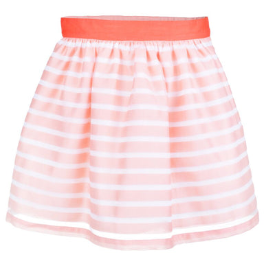 Hucklebones Girls Pink White Stripe Skirt