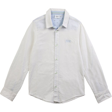 Hugo Boss Boys White Suit Shirt