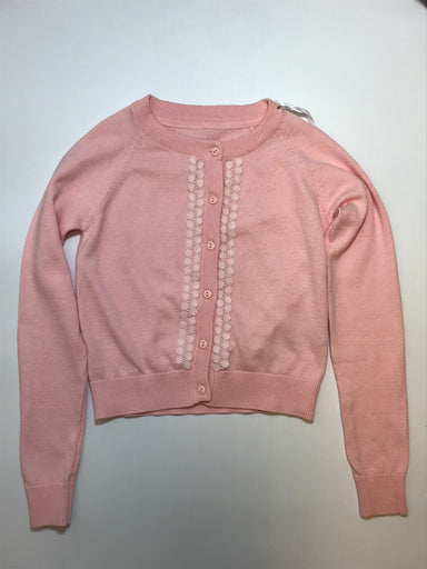 Daga Girls Pink Cotton Cardigan