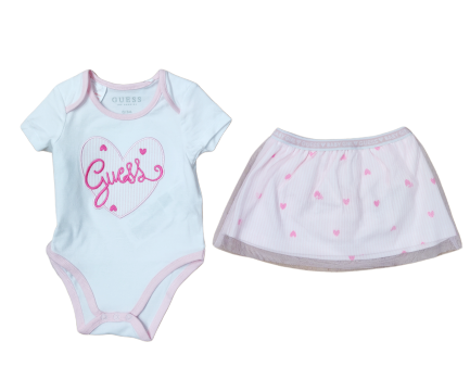 Guess Baby Girl 2 Piece Top and Skirt Set