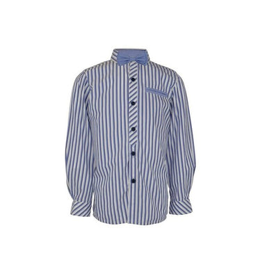 Little Lord Blue Striped Shirt