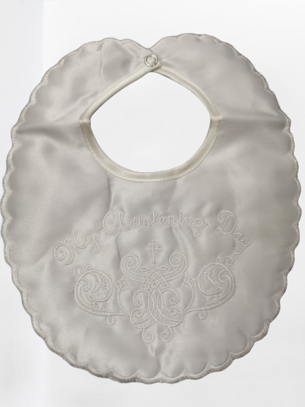 Ivory Christening Day Bib