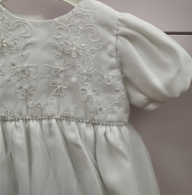 Pretty Princess White Christening Gown  Detail