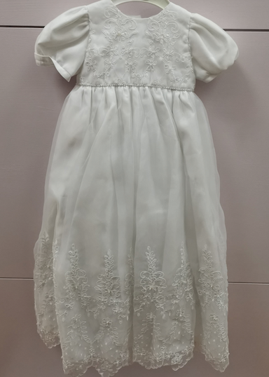 Pretty Princess White Christening Gown