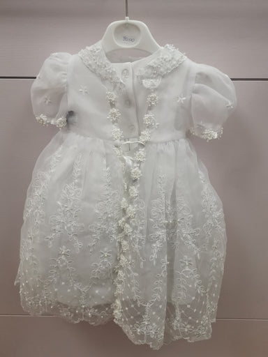 Pretty Princess White 3 in 1 Christening Dress Back