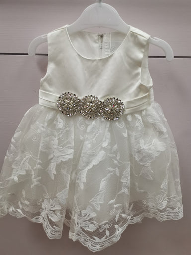 Girls Romano Ivory Occasion Dress
