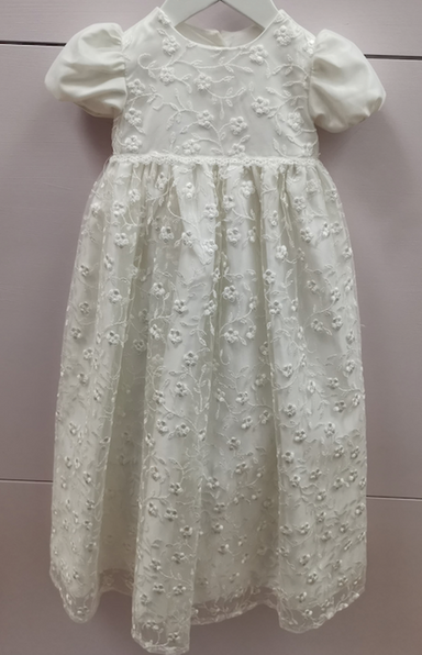 Girls Romano Ivory Christening Gown