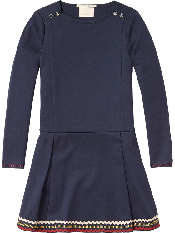 Scotch Shrunk Girls Navy Dress