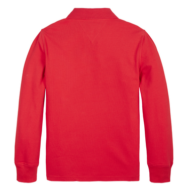 Tommy Hilfiger Boys Red Polo Jumper