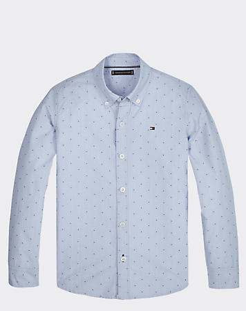 Tommy Hilfiger Boys Mini Print Shirt