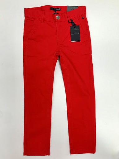 Tommy Hilfiger Boys Red Chinos