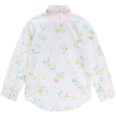 Billybandit Boys Beach Print Shirt With Bow Tie
