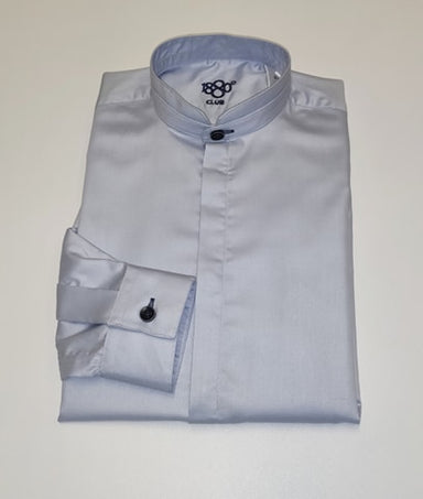 1880 Club Boys Plain Blue Grandad Shirt
