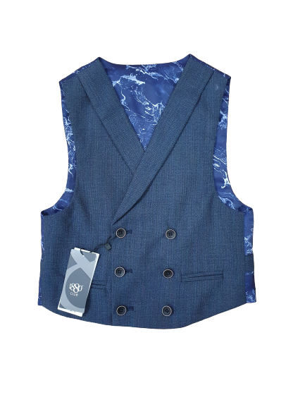 1880 Club Navy Double Breasted Waistcoat