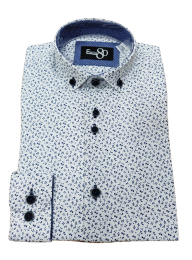 1880 Club Boys Little Leaf Printed Shirt
