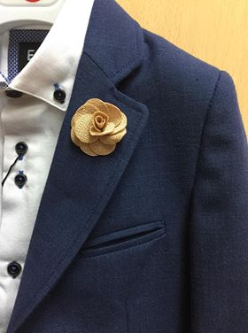 Camel Flower Lapel Pin