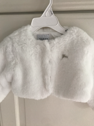 Guess Girls white fur bolero