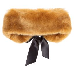Hucklebones Tan Fur Collar Scarf