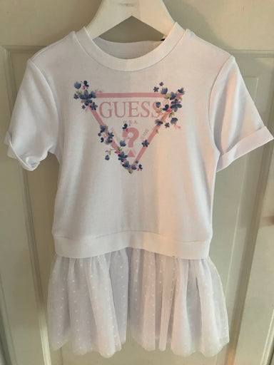 Guess girls dress with organza polka dot skirt