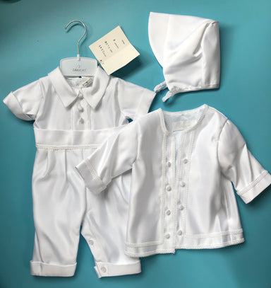 Boys christening 3 piece (0-3mths only)