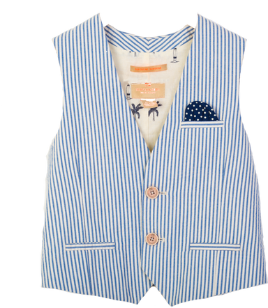 Scotch shrunk pin stripe waist coat