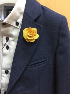 Mustard Flower Lapel Pin.