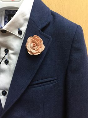 Salmon Pink Flower Lapel Pin.