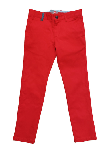 Boys Bright Red One Varone Skinny Chino.