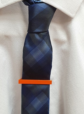 Boys Orange Tie Pin