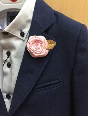 Pink Flower Lapel Pin
