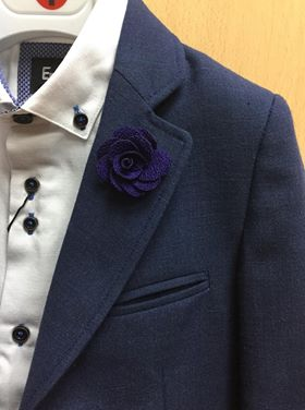 Purple Flower Lapel Pin.