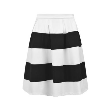 Relish Girls black and white striped skirt