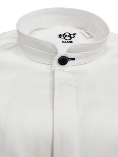 1880 Club Boys Plain White Grandad Shirt