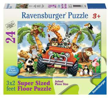 4 Wheeling 24 pcs - Floor Puzzle