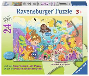 Splashing Mermaids 24 pcs - Floor Puzzle