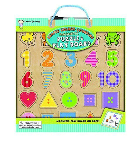 Shapes Colors Counting Magnetic Puzzle And Play Board