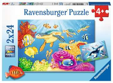 Vibrance Under the Sea - 2 x 24pc Puzzle