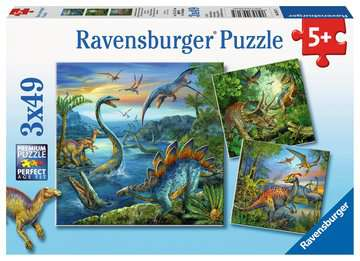 Dinosaur Fascination- 3 x 49pc Puzzle