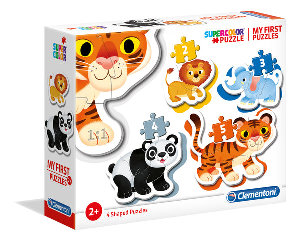My first puzzles Wild animals - 2+3+4+5 pcs