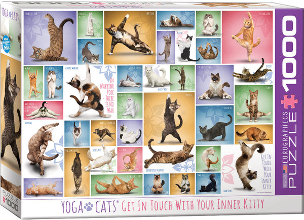Yoga Cats 1000-Piece Puzzle